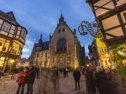 Marktplatz Quedlinburg bei Nacht