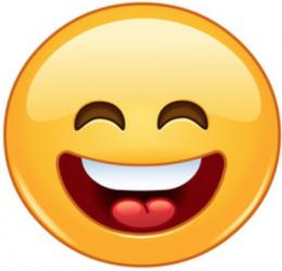 Lachender Smiley Regiohotel