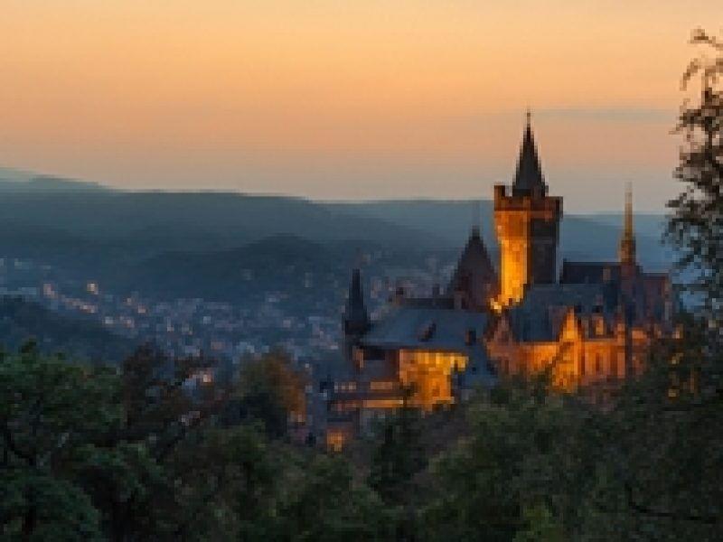 Wernigeröder Schloss Abenddämmerung