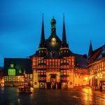 Rathaus beleuchtet Wernigerode