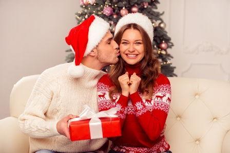 Pärchen zu Weihnachten