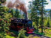Harzer Schmalspurbahn auf dem Weg zum Brocken