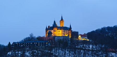 Panoramablick Schloss Wernigerode Winter