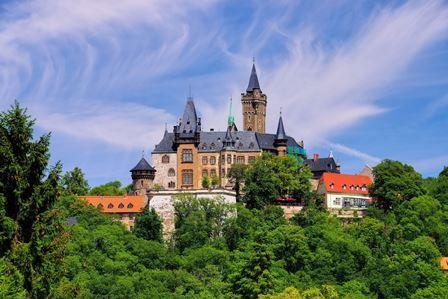 Blick zum Wernigeröder Schloss