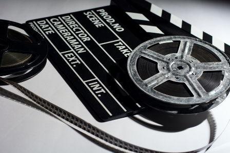 Filmrolle und Szenenklappe